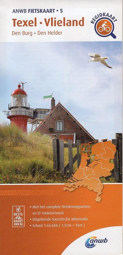 AF-05 Texel / Vlieland   ANWB fietskaart 1:66.666 9789018047061  ANWB ANWB fietskaarten 1:66.666  Fietskaarten Waddeneilanden en Waddenzee