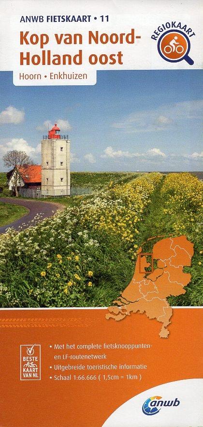 AF-11 Kop van Noord-Holland / Oost | ANWB fietskaart 1:66.666 9789018047122  ANWB ANWB fietskaarten 1:66.666  Fietskaarten Noord-Holland