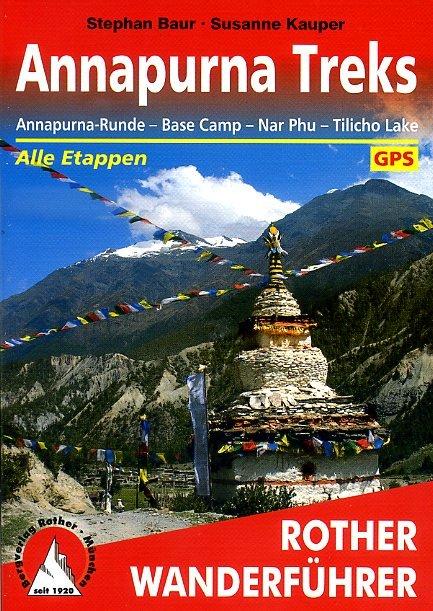 Annapurna Treks | Rother Wanderführer (wandelgids) * ROTHANNAPURNA  Bergverlag Rother RWG  Klimmen-bergsport, Wandelgidsen Nepal