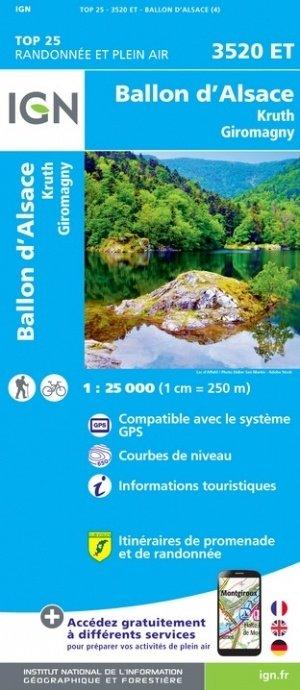 3520ET   Ballon d'Alsace | wandelkaart 1:25.000 9782758550266  IGN TOP 25  Wandelkaarten Vogezen