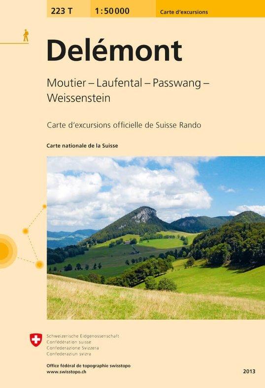 223T  Delémont [2020] 9783302302232  Bundesamt / Swisstopo SAW 1:50.000  Wandelkaarten Berner Oberland, Basel, Jura, Genève