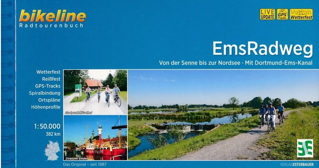 Bikeline Ems-Radweg | fietsgids 9783850008716  Esterbauer Bikeline  Fietsgidsen Bremen, Osnabrück, Emsland