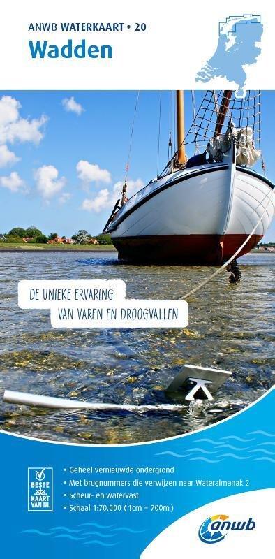 WTK-20 Wadden 1:70.000 ANWB waterkaart 20 9789018046156  ANWB ANWB Waterkaarten  Watersportboeken Waddeneilanden en Waddenzee