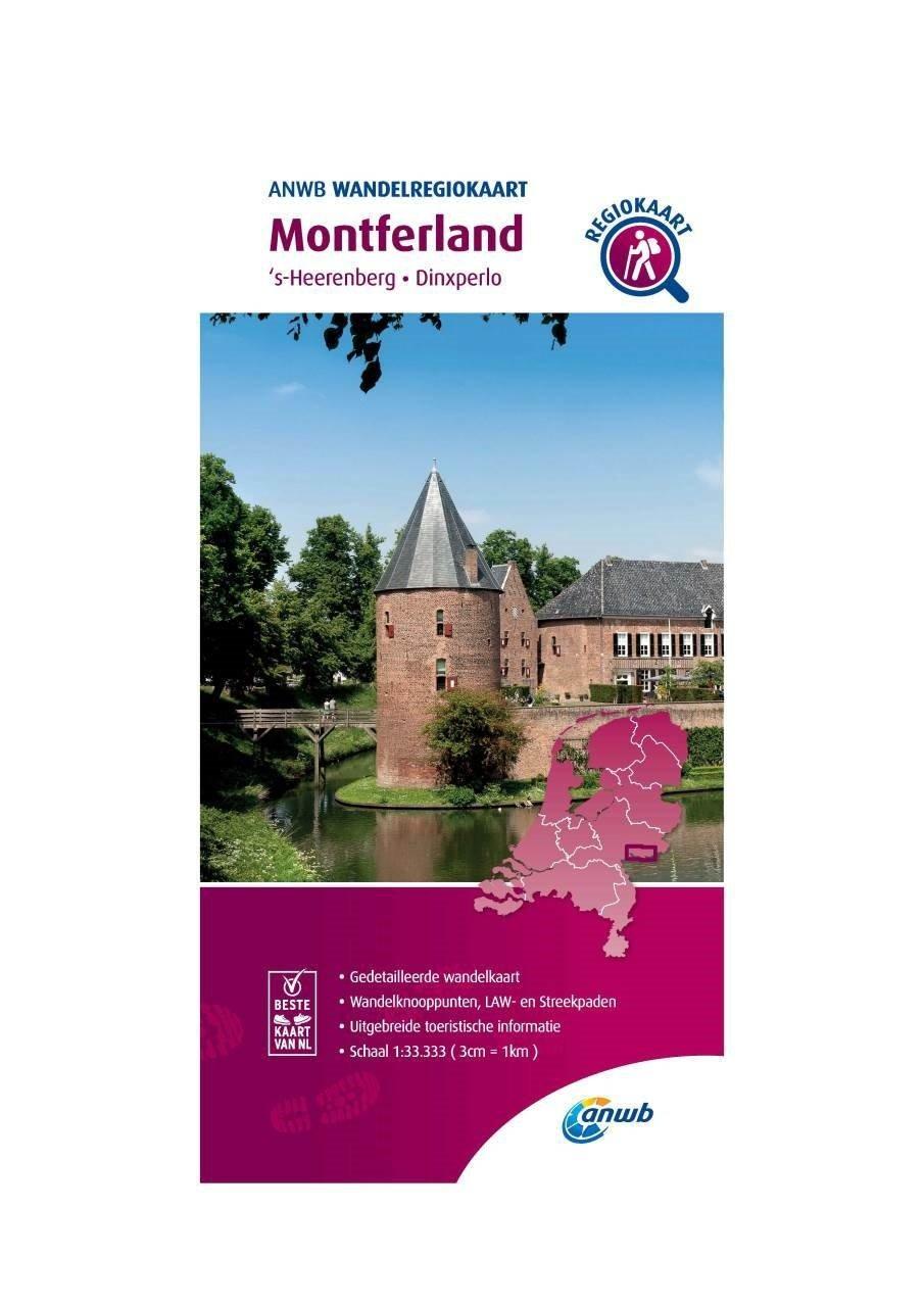 WRK-14 Montferland | wandelkaart 1:33.333 9789018046484  ANWB Wandelregiokaarten 1:33.333  Wandelkaarten Gelderse IJssel en Achterhoek