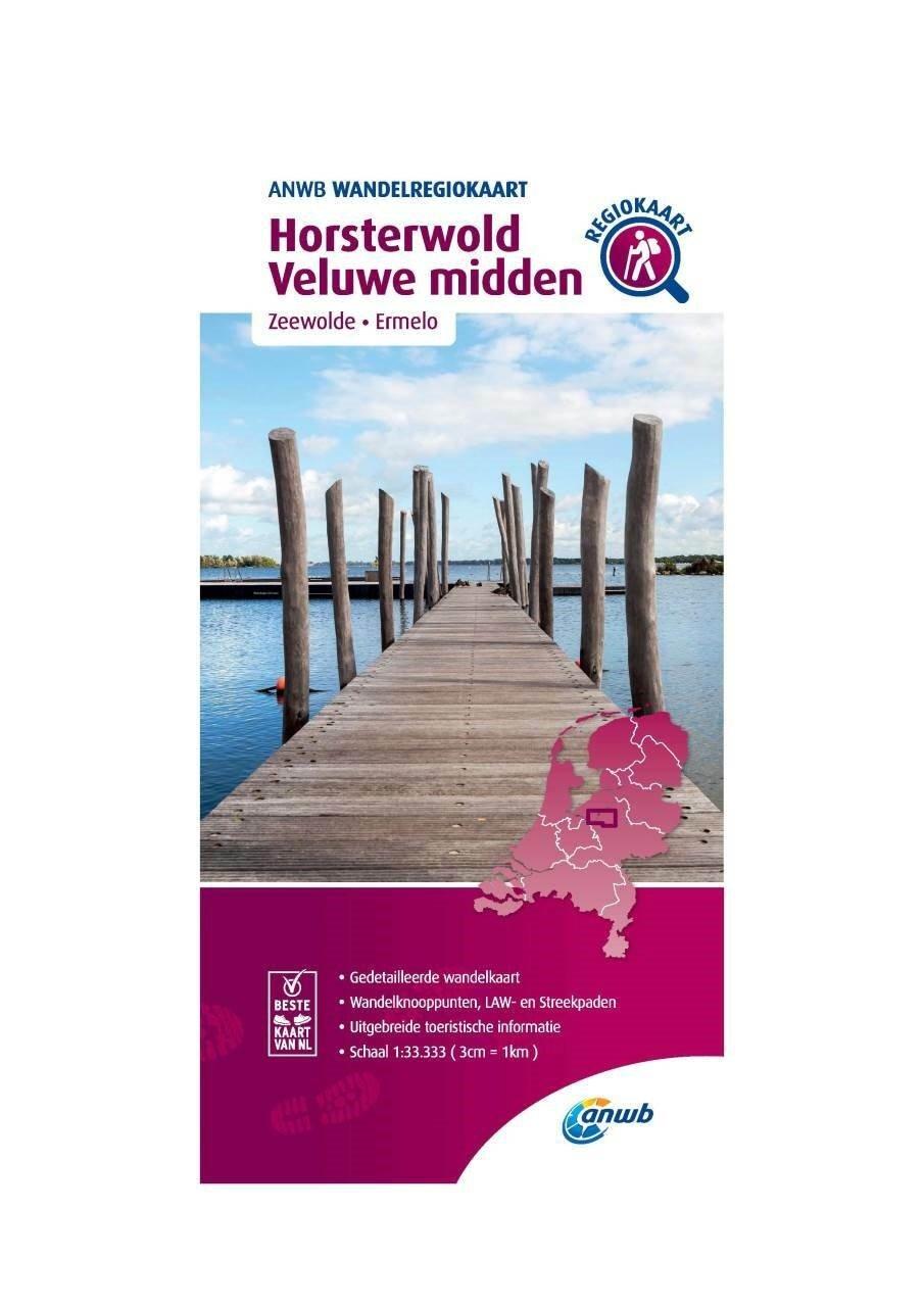 WRK-19 Horsterwold, Veluwe Midden | wandelkaart 1:33.333 9789018046538  ANWB Wandelregiokaarten 1:33.333  Wandelkaarten Arnhem en de Veluwe