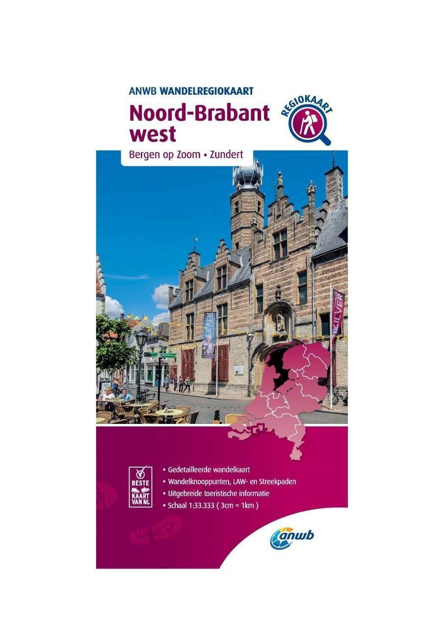 WRK-32 Noord-Brabant west | wandelkaart 1:33.333 9789018046668  ANWB Wandelregiokaarten 1:33.333  Wandelkaarten Noord-Brabant