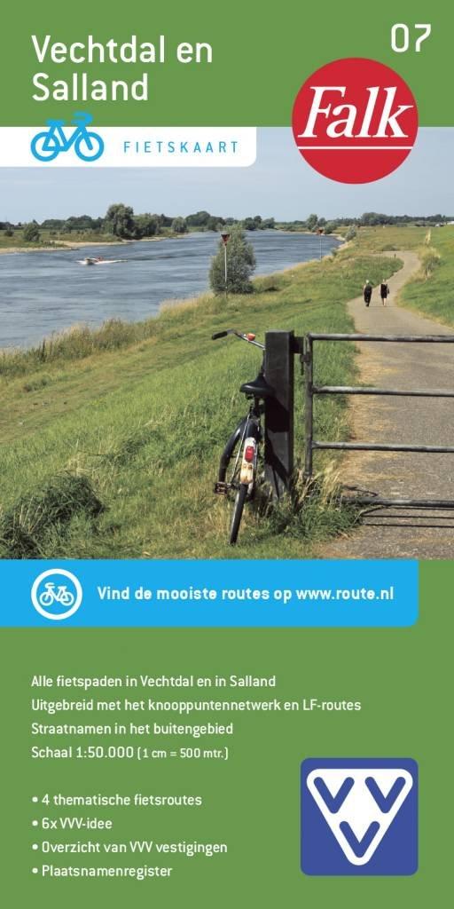FFK-07  Vechtdal en Salland   VVV fietskaart 1:50.000 9789028703735  Falk Fietskaarten met Knooppunten  Fietskaarten Kop van Overijssel, Vecht & Salland