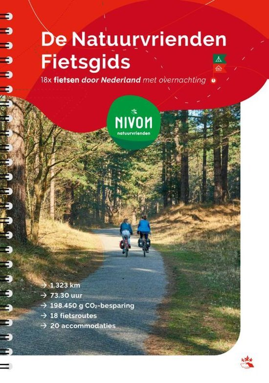 De Natuurvrienden Fietsgids 9789491142154 Magda Vodde Nivon   Fietsgidsen Nederland