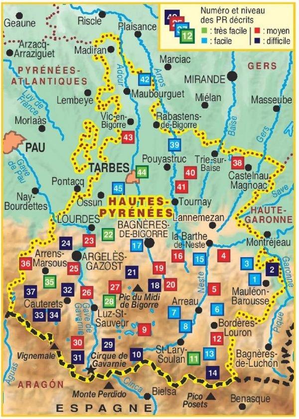 D065  Les Hautes-Pyrénées... à pied 9782751408212  FFRP Topoguides  Wandelgidsen Franse Pyreneeën, Toulouse, Gers, Garonne