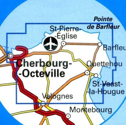 1310OT St-Pierre-Eglise, Barfleur | wandelkaart 1:25.000 9782758513056  IGN TOP 25  Wandelkaarten Normandië