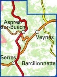 3338OT   Aspres-sur-Buëch, Veynes   wandelkaart 1:25.000 9782758539926  IGN TOP 25  Wandelkaarten Alpes de Haute-Provence, Gorges du Verdon