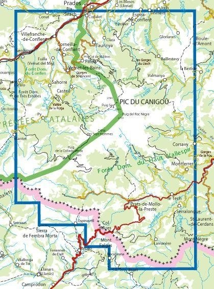 2349ET   Pic du Canigou | wandelkaart 1:25.000 9782758541523  IGN TOP 25  Wandelkaarten Franse Pyreneeën, Toulouse, Gers, Garonne