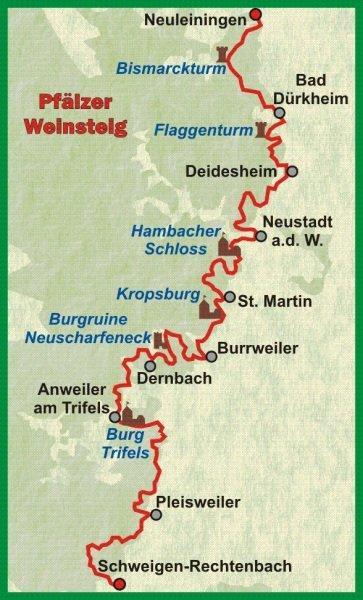 Pfälzer Weinsteig | wandelgids (Duitstalig) 9783866863804  Conrad Stein Verlag Outdoor - Der Weg ist das Ziel  Meerdaagse wandelroutes, Wandelgidsen Eifel, Moezel, Rheinland-Pfalz