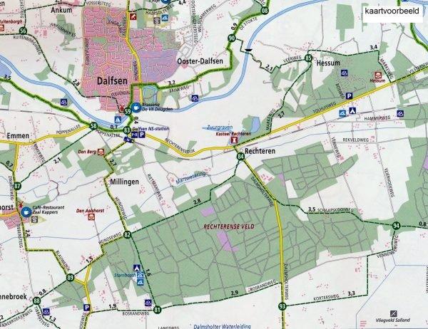 AF-08  Veluwe - ANWB fietskaart 1:50.000 9789018041793  ANWB ANWB fietskaarten 50.000  Fietskaarten Arnhem en de Veluwe
