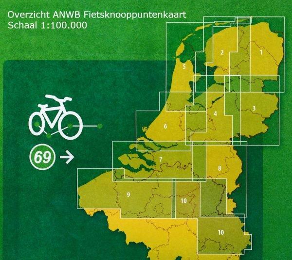 AFK-1  Groningen en Drenthe - fietskaart 1:100.000 9789018041922  ANWB ANWB - fietskaarten 100.000  Fietskaarten Drenthe, Groningen