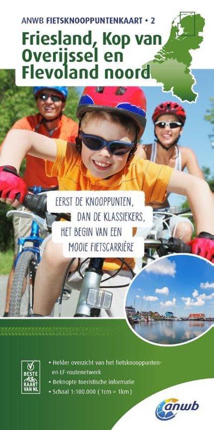 TK-2  Friesland - fietskaart 1:100.000 9789018041939  ANWB ANWB - fietskaarten 100.000  Fietskaarten Friesland, Kop van Overijssel, Vecht & Salland