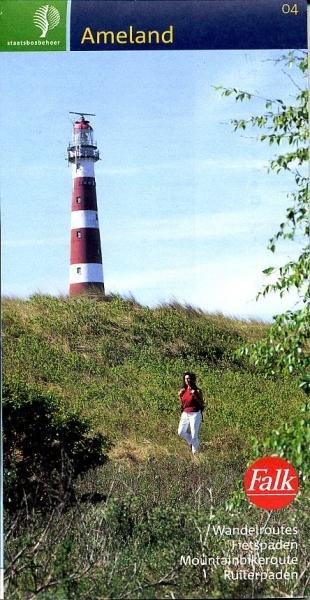 SBB-04  Ameland 9789028712454  Staatsbosbeheer SBB kaart 1:25.000  Wandelkaarten Waddeneilanden en Waddenzee