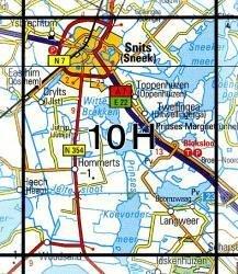 10H  Sneek 1:25.000 9789035001077  Topografische Dienst / Kadaster Topografische Kaart  Wandelkaarten Friesland