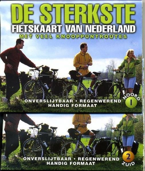 De Sterkste Fietskaart van NL (1:200.000): Combinatiepakket 9789058810168  Buijten & Sch./Smulders DSF  Fietskaarten Nederland