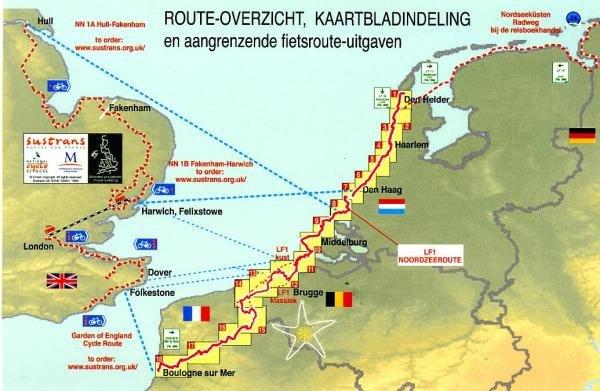 LF-1/LF-10 Nederlandse Kustroute  LF 1 9789058816382  Buijten & Schipperheijn meerdaagse fietsroutes (NL)  Fietsgidsen, Meerdaagse fietsvakanties Nederland