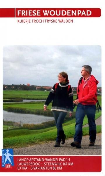 LAW 1-1  Het Friese Woudenpad 9789071068812  Wandelnet LAW-Gidsen  Wandelgidsen, Meerdaagse wandelroutes Friesland
