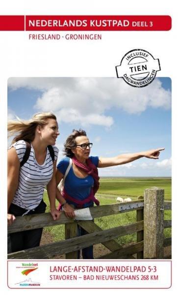 LAW 5-3 Nederlands Kustpad, Friesland - Groningen 9789071068881  Wandelnet LAW-Gidsen  Meerdaagse wandelroutes, Wandelgidsen Friesland, Groningen