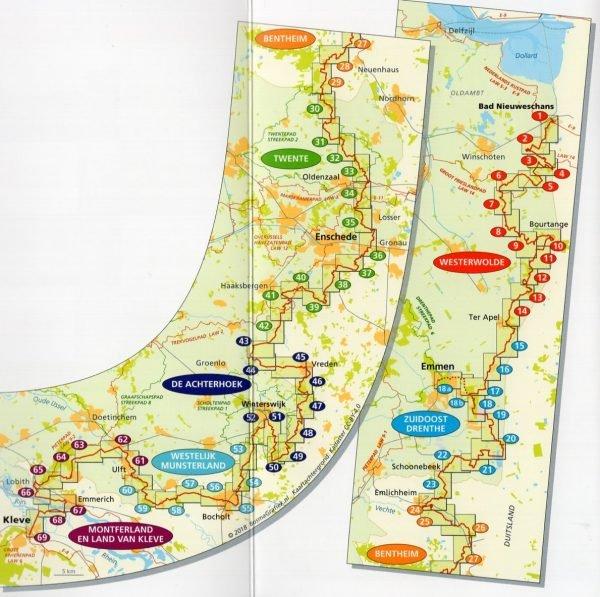 LAW 10 Noaberpad wandelgids 9789491142109  Nivon LAW-Gidsen  Meerdaagse wandelroutes, Wandelgidsen Nederland, Oost Nederland