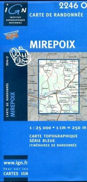 2446O  Capendu 1:25.000 3282112446144  IGN Serie Bleue 1:25.000  Wandelkaarten Languedoc, Hérault, Aude, Tarn