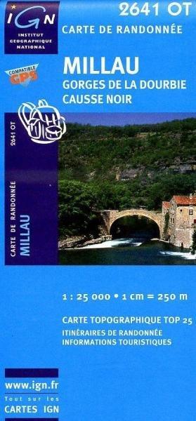 2641OT   Millau, Gorges de la Dourbie | wandelkaart 1:25.000 3282112641037  IGN TOP 25  Wandelkaarten Cevennen, Lozère, Gard en Aveyron