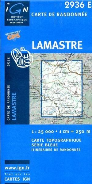 2936 Est  Lamastre 3282112936249  IGN Serie Bleue 1:25.000  Wandelkaarten Ardèche