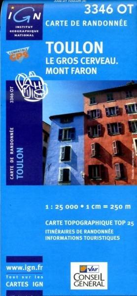 3346OT  Toulon, Six-Fours-les-Plages | wandelkaart 1:25.000 3282113346023  IGN TOP 25  Wandelkaarten Côte d'Azur
