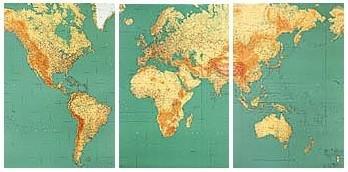 [20] Nouvelle Carte Generale du Monde  1:15m. 3282117000938  IGN   Wandkaarten Wereld als geheel