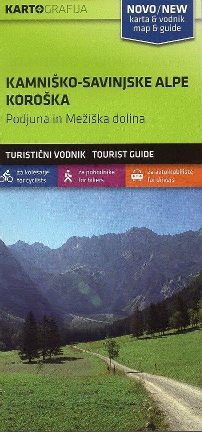 Kamnische & Savinja Alpen   wandelkaart 1:40.000 3830048522519  Kartografija   Wandelkaarten Slovenië