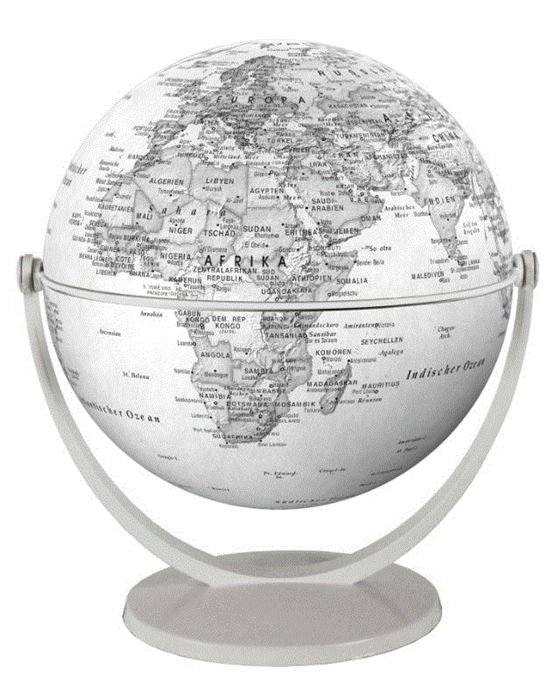 Draai & Kantelglobe 15 cm grijs 4028465940101  Stellanova Globes / Wereldbollen  Globes Wereld als geheel