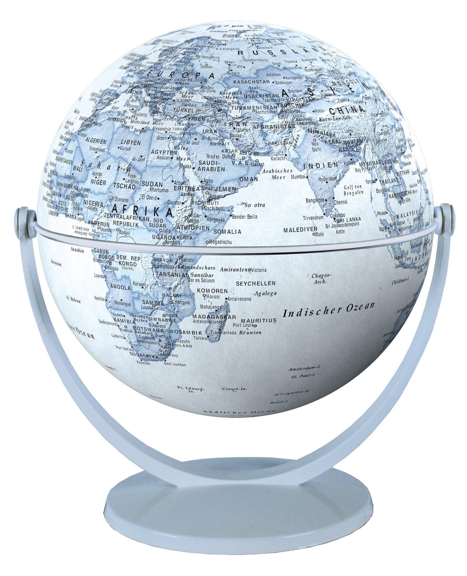 Draai & Kantelglobe 15 cm blauw 4028465940118  Stellanova Globes / Wereldbollen  Globes Wereld als geheel