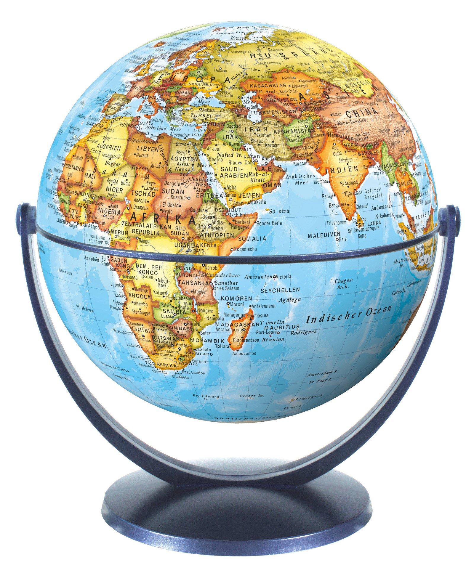 Draai & Kantelglobe 15 cm staatkundig 4028465940132  Stellanova Globes / Wereldbollen  Globes Wereld als geheel