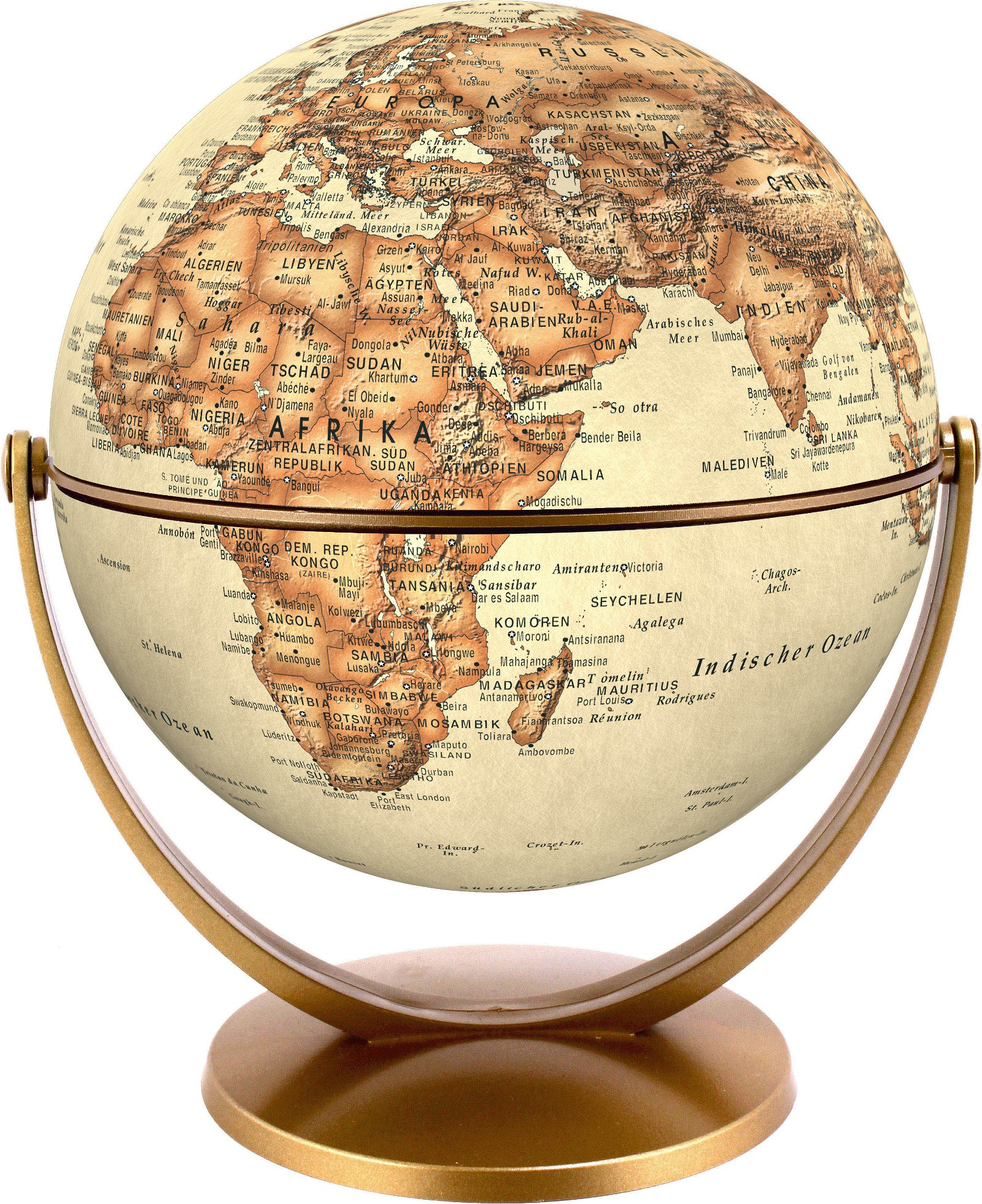 Draai & Kantelglobe 15 cm klassiek 4028465940170  Stellanova Globes / Wereldbollen  Globes Wereld als geheel