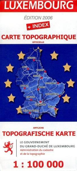 Carte Touristique du Luxembourg 1:100.000 404  Adm. du Cadastre/Topogr.   Landkaarten en wegenkaarten Luxemburg