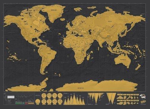 Scratch Map Deluxe Edition 5060146591256  Luckies   Wandkaarten Wereld als geheel