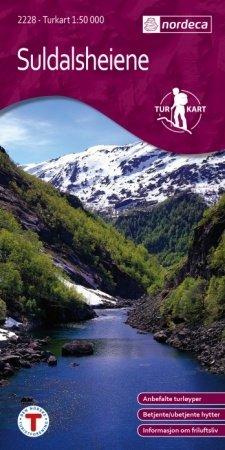 UG-2228  Suldalsheiene kaart 1:50.000 7046660022283  Nordeca / Ugland Turkart Norge  Wandelkaarten Zuid-Noorwegen