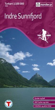 UG-2481  Indre Sunnfjord kaart 1:100.000 7046660024812  Nordeca / Ugland Turkart Norge 1:100.000  Wandelkaarten Noorwegen boven de Sognefjord