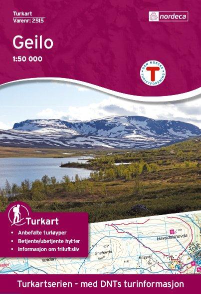 UG-2515  Geilo kaart   topografische wandelkaart 1:50.000 7046660025154  Nordeca / Ugland Turkart Norge 1:50.000  Wandelkaarten Zuid-Noorwegen