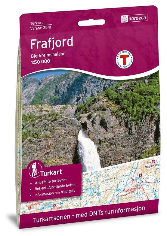 UG-2541 Frafjord - Bjerkreimsheiane kaart   topografische wandelkaart 1:50.000 7046660025413  Nordeca / Ugland Turkart Norge 1:50.000  Wandelkaarten Zuid-Noorwegen