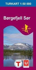 UG-2619 Børgefjell Sør 1:100.000 7046660026199  Nordeca / Ugland Turkart Norge  Wandelkaarten Noorwegen boven de Sognefjord