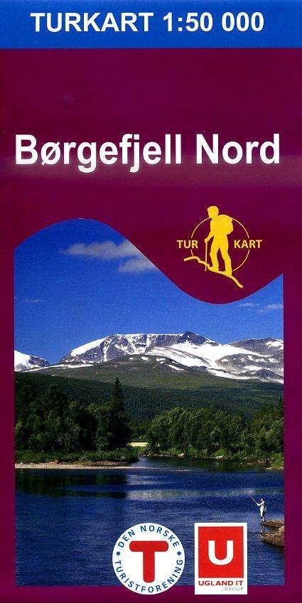 UG-2621 Børgefjell Nord 1:100.000 7046660026212  Nordeca / Ugland Turkart Norge  Wandelkaarten Noorwegen boven de Sognefjord
