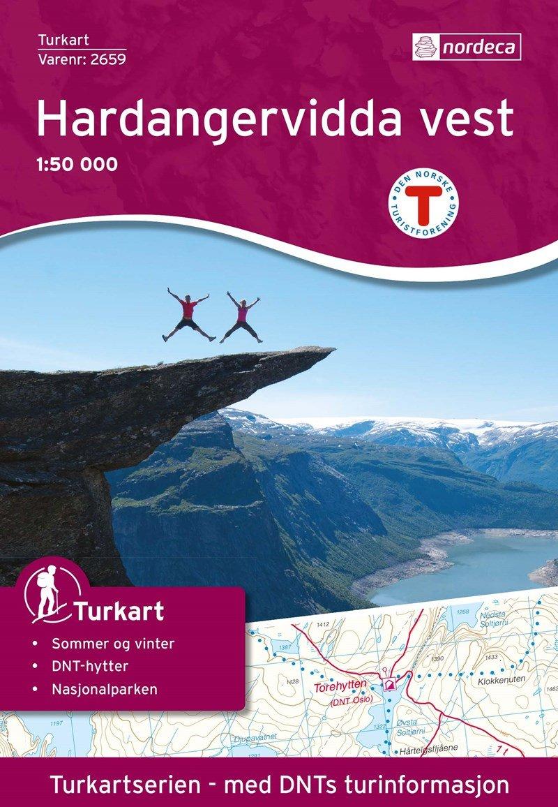 UG-2659 Hardangervidda Vest | topografische wandelkaart 1:50.000 7046660026595  Nordeca / Ugland Turkart Norge 1:50.000  Wandelkaarten Zuid-Noorwegen