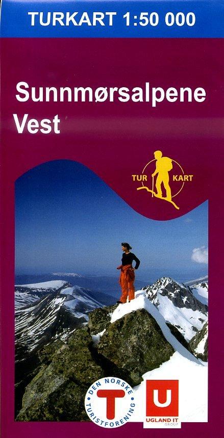 UG-2691  Sunnmorsalpane Vest | topografische wandelkaart 1:50.000 7046660026915  Nordeca / Ugland Turkart Norge 1:50.000  Wandelkaarten Noorwegen boven de Sognefjord