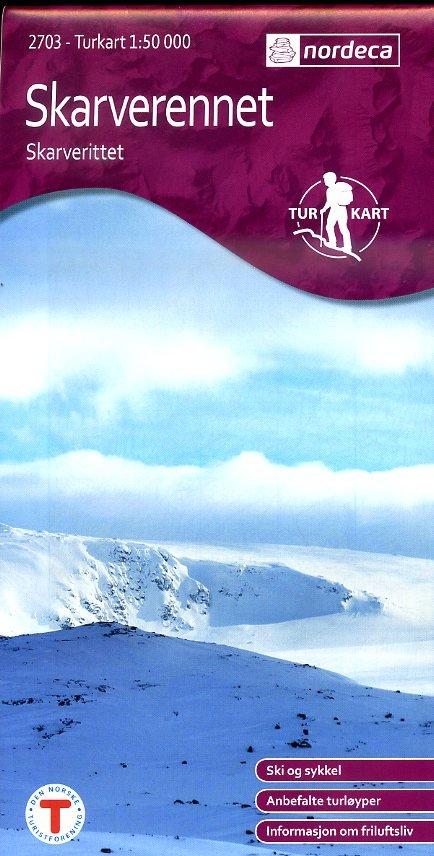 UG-2703 Skarverennet   topografische wandelkaart 1:50.000 7046660027035  Nordeca / Ugland Turkart Norge 1:50.000  Wandelkaarten Zuid-Noorwegen