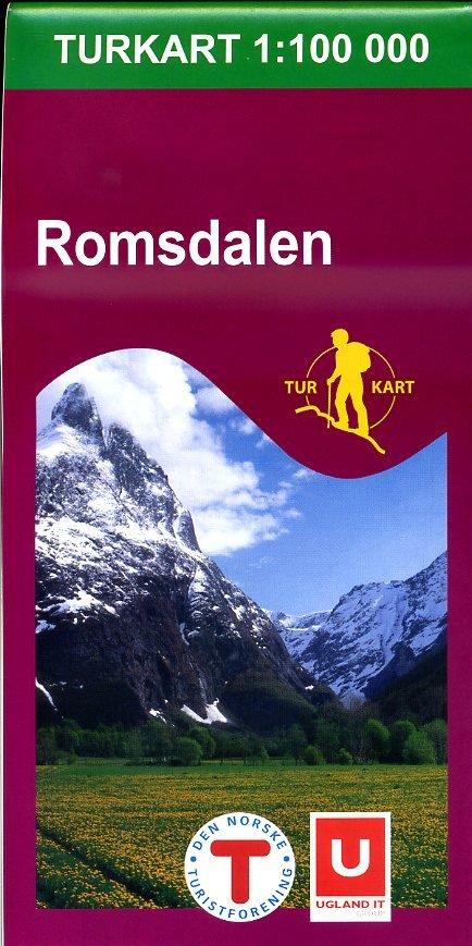 UG-2728  Romsdalen kaart 1:100.000 7046660027288  Nordeca / Ugland Turkart Norge  Wandelkaarten Noorwegen boven de Sognefjord