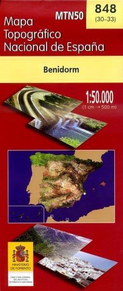 Hoja -848  Benidorm 8423434084804  CNIG Spanje 1:50.000  Wandelkaarten Costa Blanca